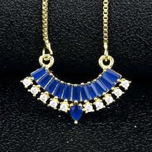 Новое поступление золотые геометрические ожерелья подвески кристалл