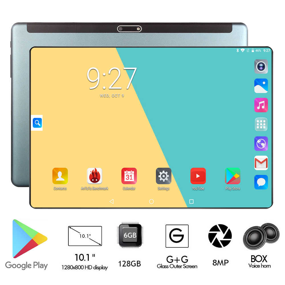6GB RAM 128GB ROM Nieuwste 10 inch Tablet PC Android 9.0 Octa Core 2.5D Glas 8.0MP Camera 4G FDD LTE Phablet 10 10.1 Geschenken