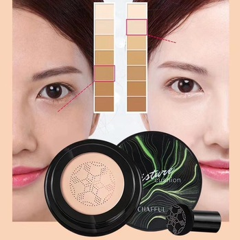 1PC Waterproof BB Cream Mushroom Head Air Cushion Lasting Oil Control CC Cream Cover Dark Circles Whitening Moisture Concealer