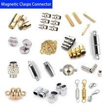 10 pçs fecho magnético conector pulseira de couro pulseira fecho colar conectores para diy jóias fazendo prendedores magnéticos