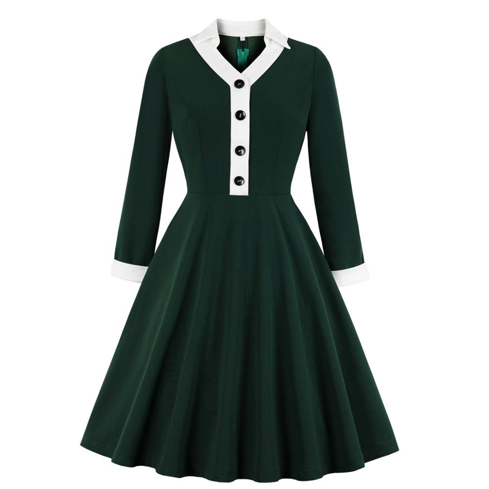 Automne femmes manches longues robe hiver Sexy robe Vintage