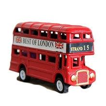 Vintage britânico europa modelo de ônibus, miniatura, vermelho, verde, afiador de lápis, londres, metal, retrô, decoração de casa, antiguidade, brinquedo para crianças