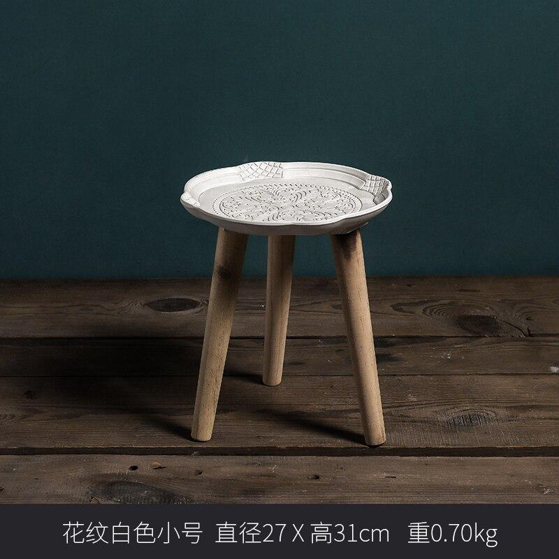 Луи Мода журнальные столы простой круглый маленькая полка для чая творческий дом гостиная спальня уголок - Цвет: S1