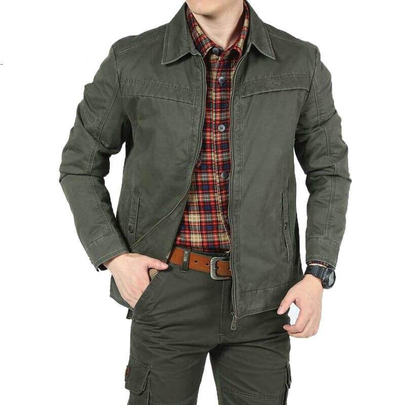 Military Men's Jackets Plus Size M-3XL jaqueta masculina Casual Jacket Men Solid Turn-down Collar Windbreaker Jacket