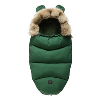 Winter warm sleeping bag newborn baby stroller sleeping bag dual use blanket baby out autumn and winter thick warm baby supplies