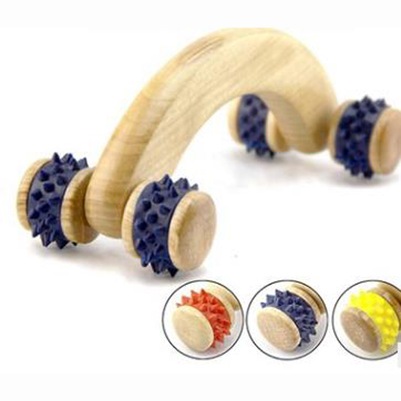 HANRIVER Wooden massager crooked teeth round wooden massager home health care, gift