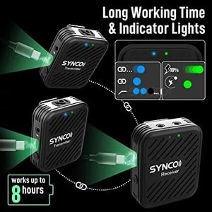 Image 4 - Беспроводной петличный микрофон SYNCO G1 G1A1 G1A2, передатчик для смартфонов, ноутбуков, DSLR, планшетов, видеокамер, рекордер pk comica