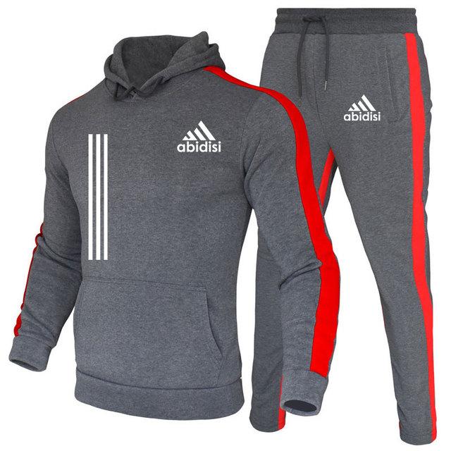 Chándal de marca de moda para hombre, conjunto de Sudadera con capucha y pantalones de chándal, ropa informal, Otoño, novedad 5