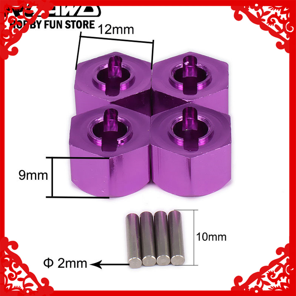 Alloy M12 12mm 9mm Drive Wheel Hub Hex Adapter For 1/10 RC Hobby Model Car Buggy Truck RC Parts Himoto HSP Axial HPI Traxxas