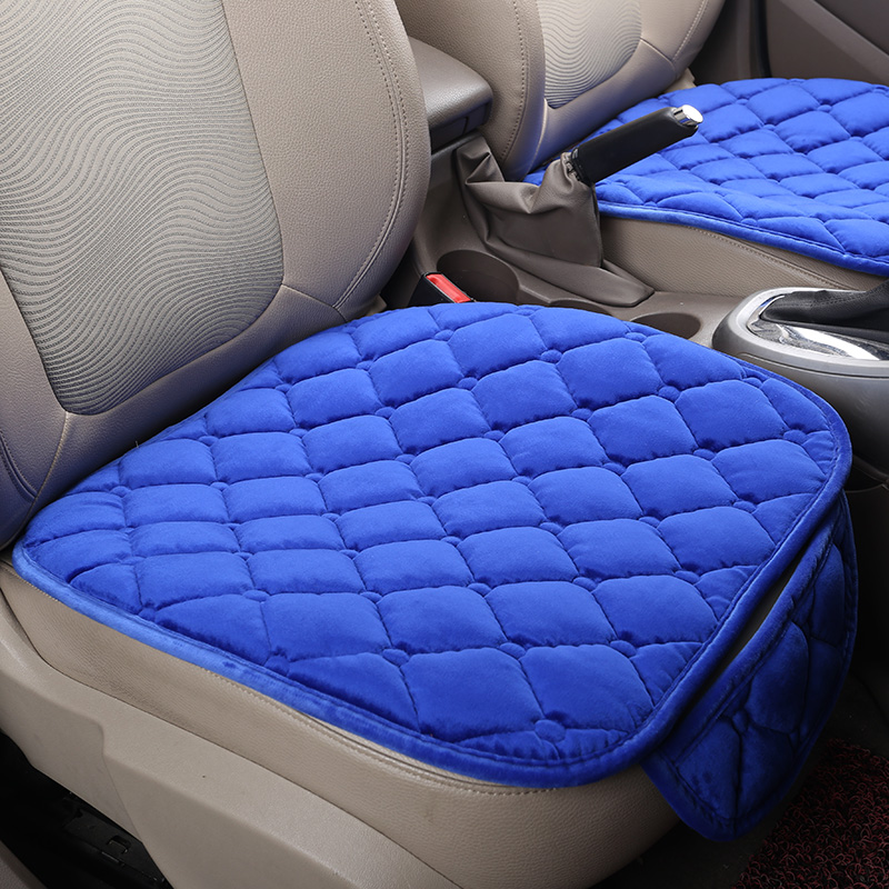 Warm Car Seat Cover Cushion Universal Short Plush Velvet Front Car Chair Pad Vehicular Auto Accessorie Winter Seat protector|car seat cover cushion|car seat cover|seat cover - title=