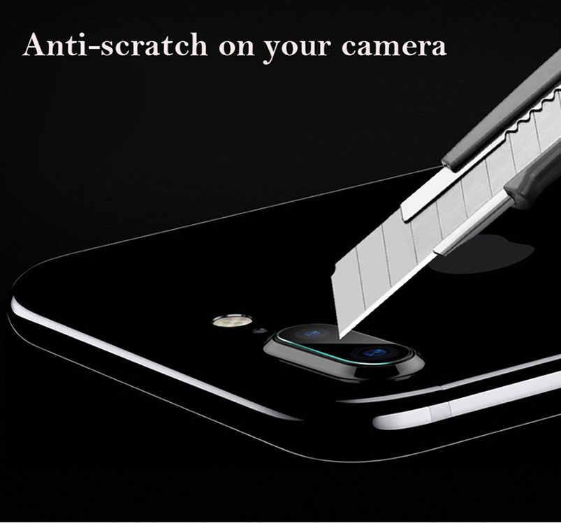 עבור Iphone 11 פרו Xs Max XR X 8 6 6s 7 7s בתוספת 5 5S 5c SE חזור מצלמה עדשת מסך מגן מזג זכוכית סרט מלא כיסוי מקרה