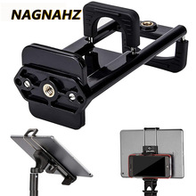 Nagnahz Tripod Mount Phone Holder Multi 2-in-1 Cell Phone Holder for iPhone iPad HUAWEI Xiaomi Smart Tablets