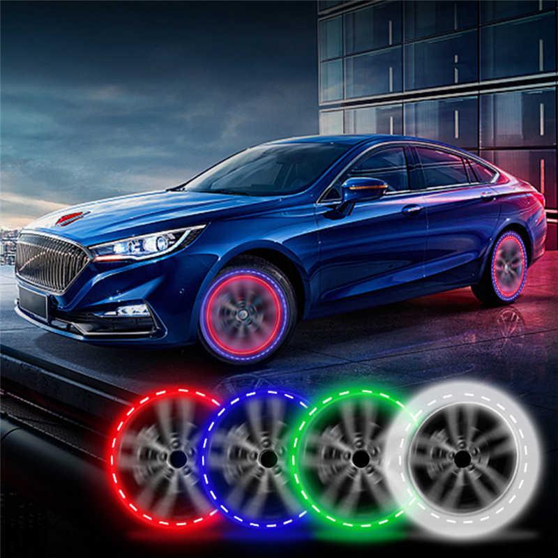 1PC ATV moto voiture accessoires solaire roue lumières lampe décorative LED pneu lumières coloré Valve lumières modifié roue lumière