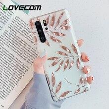 LOVECOM Rose Gold Leaves Pineapple Phone Case For S