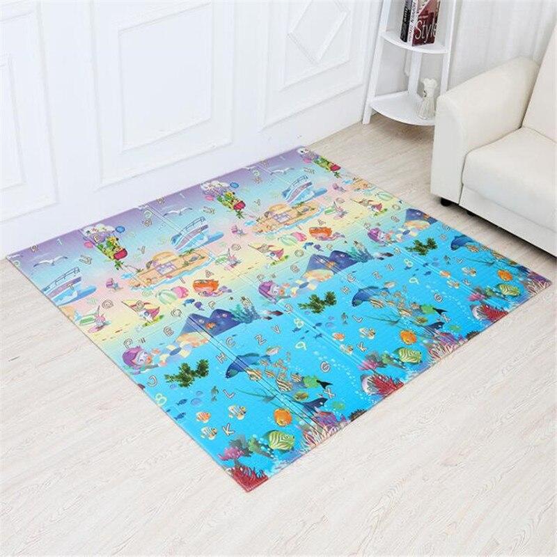 200*150*1cm bébé jouer tapis pour enfants jouets pliable XPE tapis de jeu tapis doux plancher bébé tapis rampant tapis Puzzle tapis