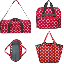 Crochet Knitting Bag With Wave Point Storage For Women Yarn Needles Sewing Organizer