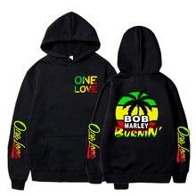 Winter hoodies sweatshirts bob marley print hoodie long sleeve