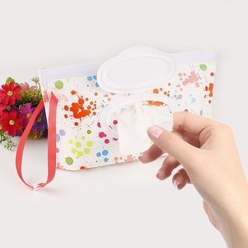 Portable Baby Wipes Box Wet Wipe Box Cleaning Wipes Carrying Bag Eco-Friendly Wipe Container Wristlet Wet Wipe Case недорого