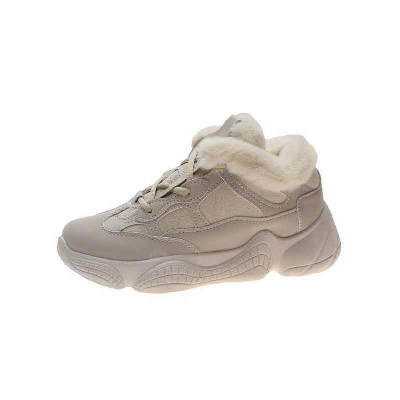 Ayakkabı kış sıcak Platform kadın kar botları peluş kadın gündelik ayakkabı Faux süet deri kadın Snowboots sıcak ayakkabı kürk Y879