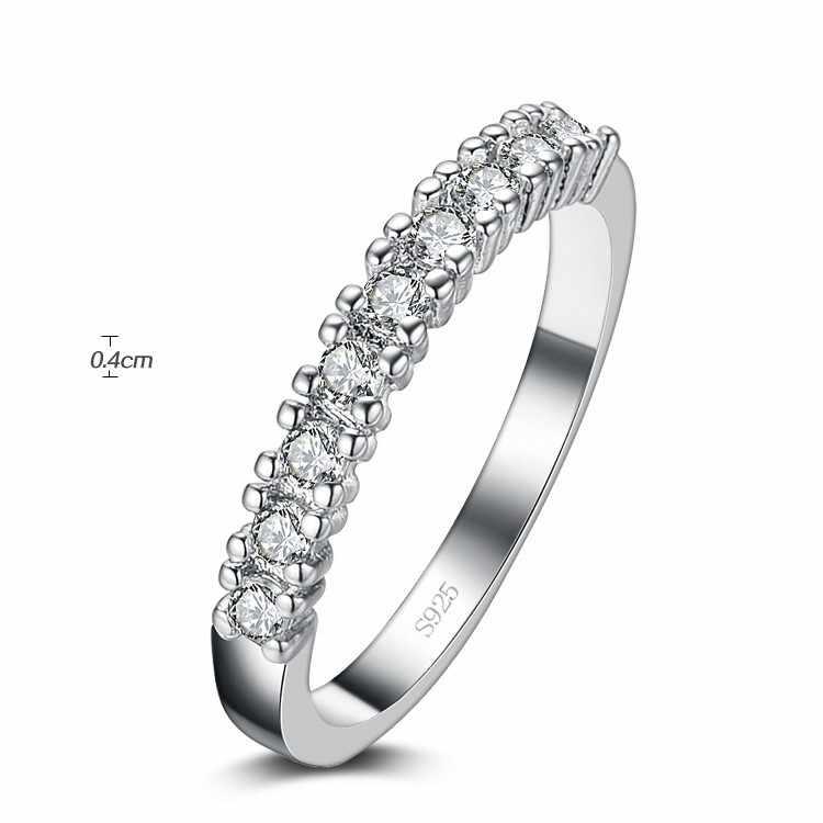 Geld verliezen Promotie Nieuwe Aankomst Super Glanzend Zirkoon 925 Sterling Zilveren Ringen Voor Vrouwen Sieraden Huwelijkscadeau