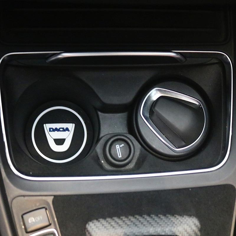 3D Car Water Cup Bottle Holder Anti-slip Pad Mat Silica Gel For Dacia Lodgy 2 Mcv Sandero Duster Logan SanderoCar-Styling