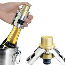 Tampa de aço inoxidável portátil da tomada da garrafa de vinho espumante da cortiça do champanhe do impulso-tipo tampão inflável da tomada do champanhe