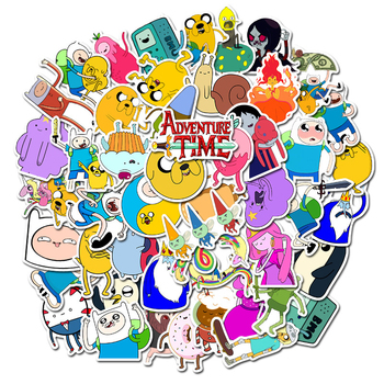 10/30/50PCS Adventure Time with Finn and Jake Cartoon Characters Luggage Waterproof Graffiti Sticker Decoration Wholesale adventure time backpack with finn and jake cn bmo backpack beemo be more cartoon robot high grade pu green