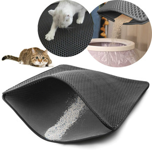 Foldable Waterproof Cat Dog Litter Trapping Sleep Bed Mat Double Layer Honeycomb Design Tray Trap Cat Dog Pad Mats