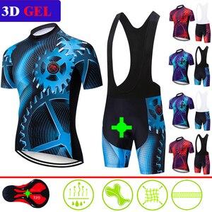 Image 1 - Новая летняя одежда teleyi для велоспорта, Джерси с коротким рукавом, комплект одежды для велоспорта, быстросохнущая одежда, велосипедная одежда для горного велосипеда