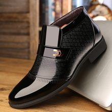 Business Shoes Mens Dress Boots Office Shoes Men Classic Patent Leather Winter Boots Men Formal Shoes Luxury Brand 2020 New