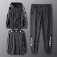Chándal reflectante para correr para hombre, camiseta de fútbol y baloncesto, pantalones ajustados para gimnasio, ropa de entrenamiento deportivo para marido