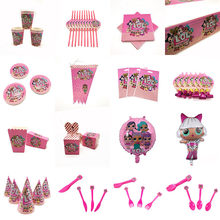 LOL Puppen Thema Party Supplies Überraschung Puppen Banner PlatesBalloons Serviette Cupcake Wrapper Baby Dusche Kinder Geburtstag Dekorationen(China)