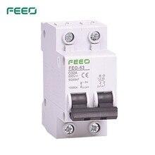 FEEO 2P 550V 6A/10A/16A/20A/25A/32A/40A/50A/63A DC Circuit breaker MCB C curve CE Certificate