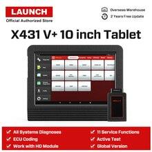 Launch X431 V+ V Plus 10,1 дюймов авто диагностические инструменты полная система OBD2 автомобильный сканер Профессиональный Автомобильный сканер PK X 431 Pro3