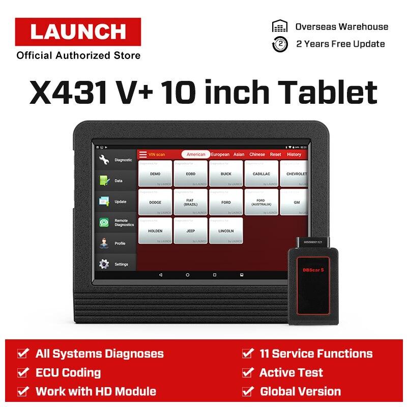 Image 2 - Launch X431 V + V Plus 10,1 дюймов авто диагностические инструменты полная система OBD2 автомобильный сканер Профессиональный Автомобильный сканер PK X 431 Pro3-in Анализатор двигателя from Автомобили и мотоциклы on