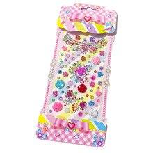 Rhinestones Crown Flower Stickers For Women Mobile Phone Car Handmade Decoration Diy Jewelry Pearl