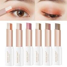Preguiçoso sombra vara estéreo gradiente shimmer cor dupla sombra de olho caneta à prova dwaterproof água fácil de usar sombra maquillaje tslm1