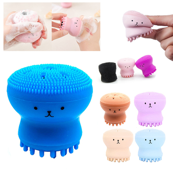 Silicone Small Octopus Facial Cleansing Brushes Face Deep Cleaning Washing Brush Massage Beauty Instrument Clean Pores/exfoliate 1