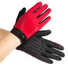 Dedo cheio tela de toque luvas de trabalho respirável macio luvas de segurança anti-deslizamento ao ar livre airsoft esporte luvas para homem