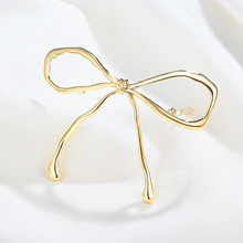 CHIMERA Metal Bow Hair Clips for Women Simple Bowknot Pins Clamps Gold Barrette Stylish Accessories Jewelry Hairgrip