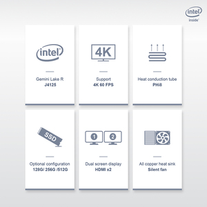 Image 2 - Beelink GK55 windows 10 Мини ПК intel J4125 до 2,7 ГГц 8 Гб 128 256 2,4/5G WI FI 2 * HDMI BT4.0 компьютер linux NUC ubuntu (убу́нту операционная система)