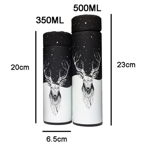 Image 2 - 350 500ML Insulated thermos Vacuum bottle Stainless steel Keep Thermo mug Thermos cup Thermocup Thermal bottle with tea Strainer