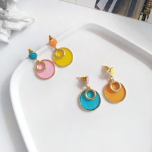 Fashion  and transparent acrylic earring asymmetric geometry women earrings for party gift wedding dresses