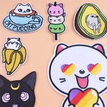Prajna – Patch chat mignon à rayures, bon marché, mode, Animal de dessin animé, pour vêtements d'enfants, bricolage