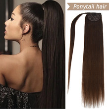 WIT Blonde Black Human Hair Balayage Ponytail Extensions Real Human Hair Natural Pony tail Clip Ins Machine Made Remy Brazilian