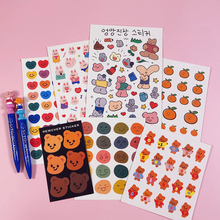 Rainbow Cartoon Bear Stickers Hand Account Material Sealing Small Stickers Mobile Phone Shell Decoration Children DIY Stickers