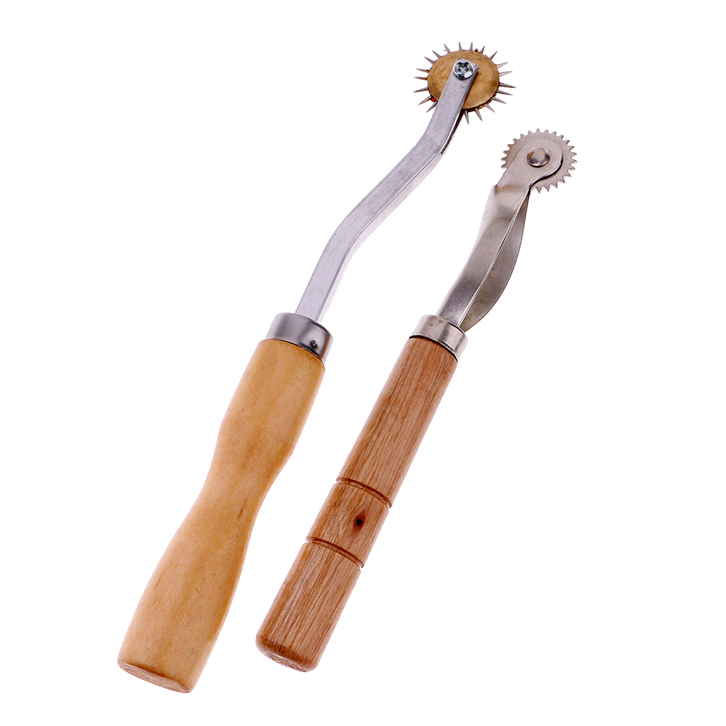 2 piezas Serrate Edge Pattern Tracer rueda de trazado herramienta de costura para Sastre Crafts