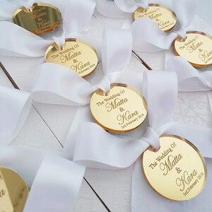 50 * Персонализированная Серебряная гравировка для крещения невесты, круглое украшение, украшение для монет, украшение для стола, круглая би...