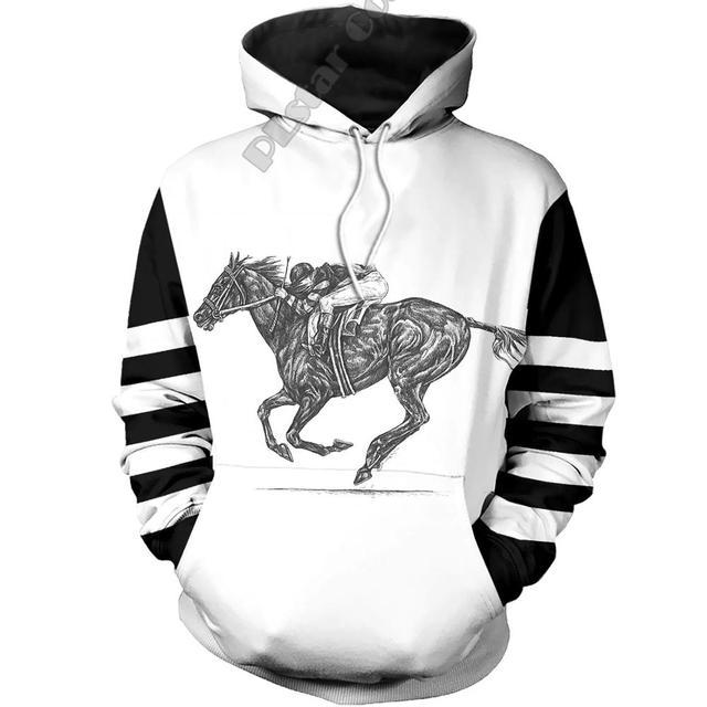 PLstar Cosmos Animal Racing Horse Funny Long Sleeves Tracksuit New Fashion 3Dprint Unisex zipper/Hoodies/Sweatshirts/Jacket A-5