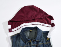 Detachable hooded denim men women Vest Classic Vintage Motorcycke Jacket Men Motorcycle Clothing Vest Motorcycle Rider Sleevele